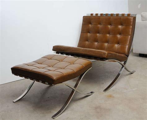 barcelona chair and ottoman vintage mies van der rohe quot barcelona quot chair and ottoman at