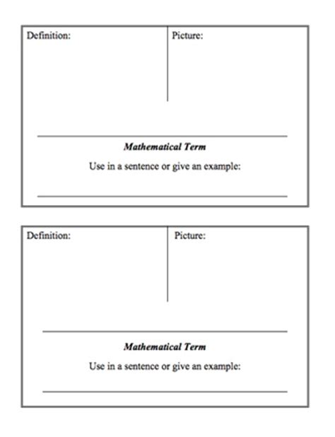 vocabulary word wall template here s a page with a template for students to create their