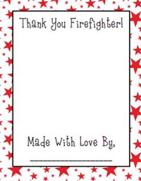 thank you card template for school visit firefighter coloring page fighters
