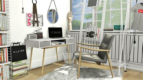 sims 4 cc furniture mxims office set 12 isabella office desk rivage chair