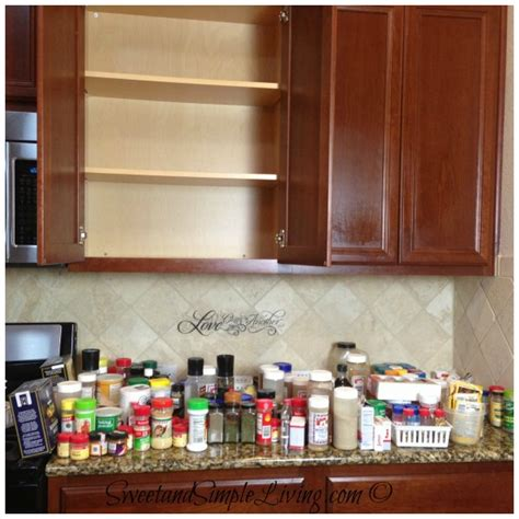 kitchen organisation kitchen organization cheap and easy spice cupboard