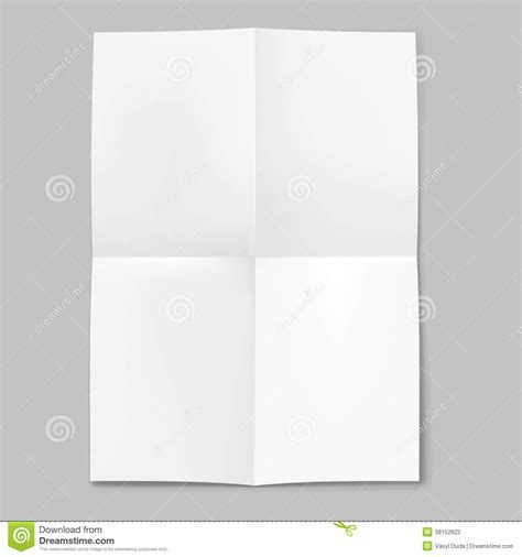 Folded Sheet Of Paper - blank sheet of paper folded in four stock photography