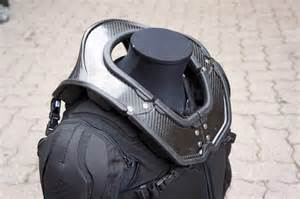 The new hybrid neck brace is 100 carbon fiber with replaceable pads