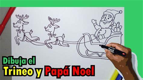 imagenes de santa claus a lapiz aprende a dibujar paso a paso el trineo de papa noel