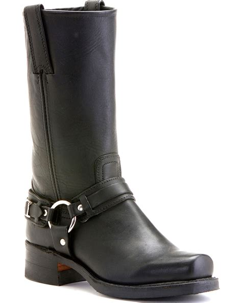 women s biker boots frye women s belted harness 12 quot motorcycle boots boot barn