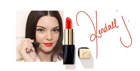 Lipstick Jenner kendall jenner estee lauder restless lipstick 171 fashionandstylepolice