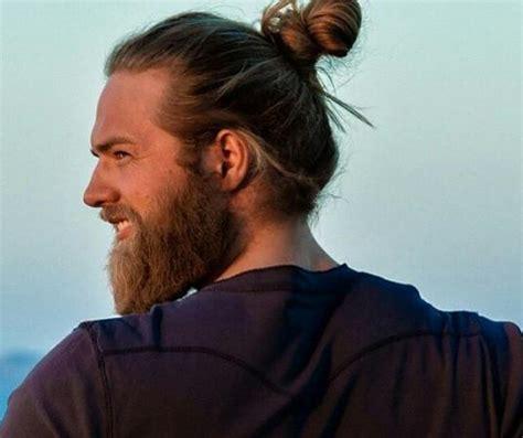 hair is wirey men man bun hairstyle