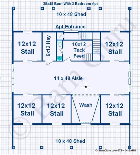 horse barn with living quarters floor plans horse barns with living quarters floor plans