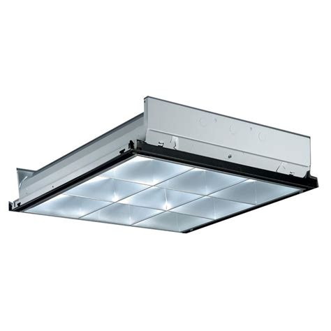 Lithonia Lighting 2 Ft X 2 Ft Silver 9 Cell Multi Volt 2 X2 Fluorescent Light Fixtures