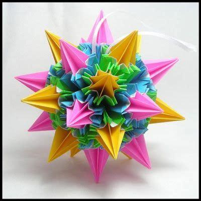 Origami Sea Urchin - sea urchin kusudama by tomoko fuse kusudama modular