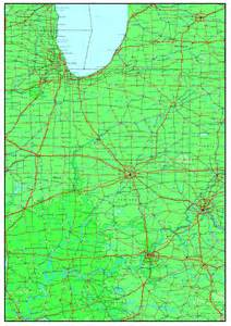 us highway map with elevations indiana elevation map