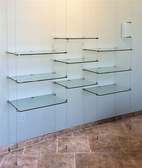 12 best ideas of suspended glass shelf