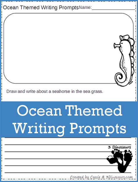 theme essay prompt ocean themed writing prompts 3 dinosaurs