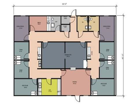doctor office floor plan 2 physician construction floor plans