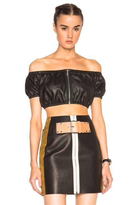 by alexander wang womens leather top style styles splurge amber rose s 1oak nightclub alexander wang black