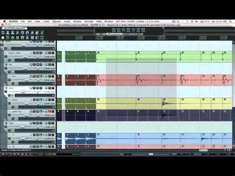 reaper drum pattern editor drum editing in reaper youtube