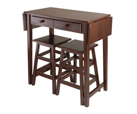 Winsome Mercer Drop Leaf Table With 2 Stools