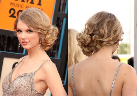 taylor swift updo styles taylor swift hair tutorial curly side bun chignon updo
