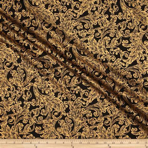black damask upholstery fabric warm wishes metallic damask black gold discount designer