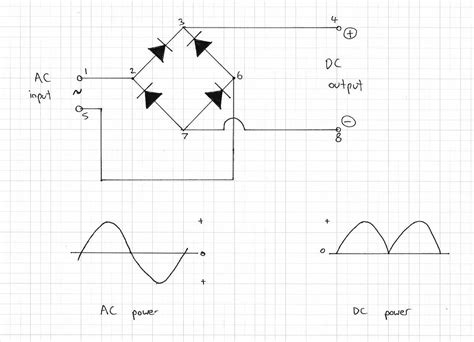 diode converts ac to dc dc to voltage converter schematic get free image about wiring diagram
