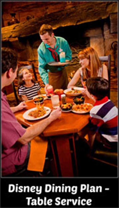 Disney Dining Plan Table Service Walt Disney World Disney Deluxe Dining Plan Details