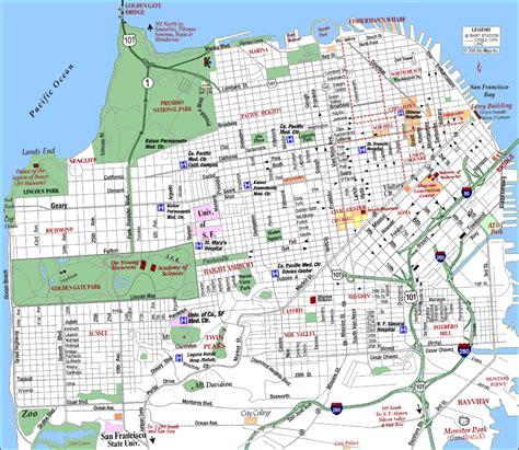 san francisco map interactive san francisco zip code map