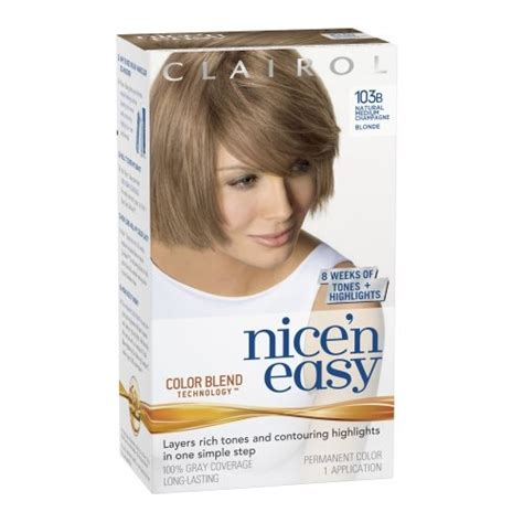 choosing a shade of blonde hair color nice looking clairol nice n easy hair color 103b natural medium