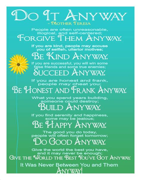 mother teresa biography pdf in hindi mother teresa do it anyway prints fine wall art
