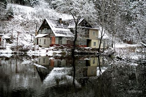 winter houses winter in lithuania lithuania pinterest green lakes