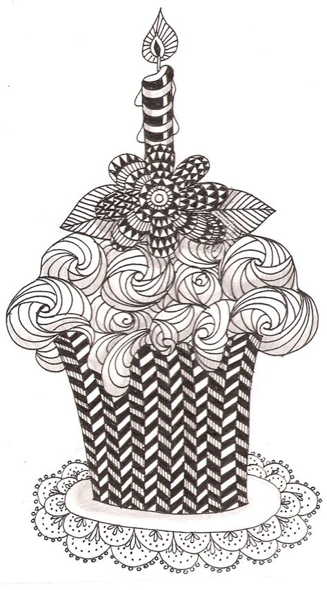 cake doodle ideas free coloring pages of zentangle dogs