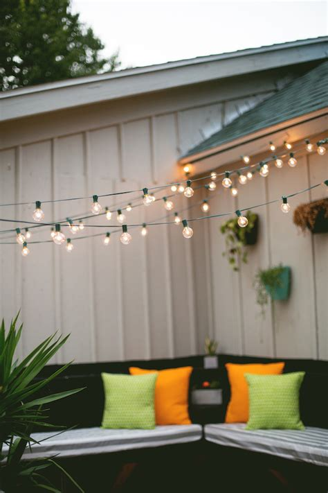 Outdoor Patio Hanging String Lights Decor Tips Hanging String Lights In An Outdoor Space Make
