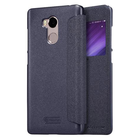 Casing Xiaomi Redmi 4 Leather Chrome xiaomi redmi 4 pro nillkin sparkle leather 綷