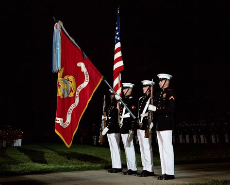 marine corps color guard marines with the united states marine corps color guard