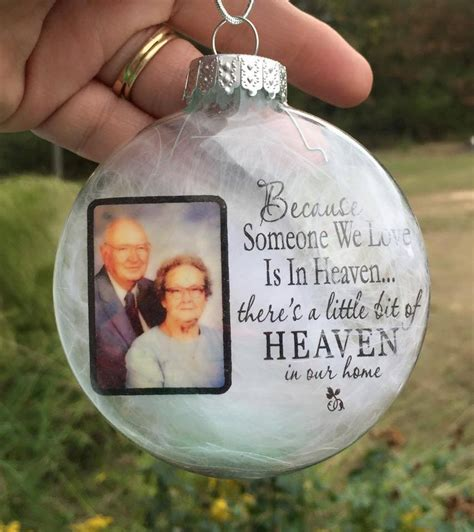 diy ornaments in memory personalized ornaments photo
