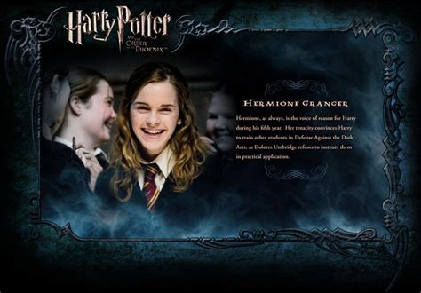 biography of harry potter harry potter images ootp character description hermione