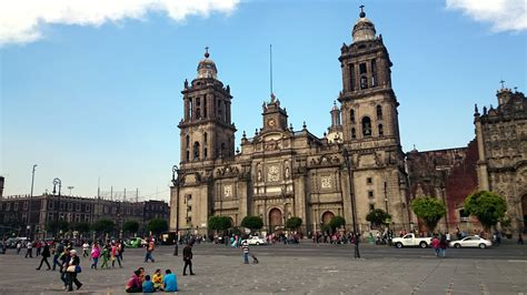 zocalo plaza mexico city metropolitan cathedral and constitution plaza zocalo