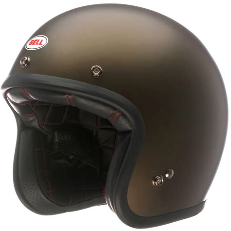 bell custom 500 brown open motorcycle helmet flip