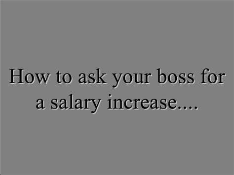 How To Raise A Letter In Powerpoint How To Ask Your For A Salary
