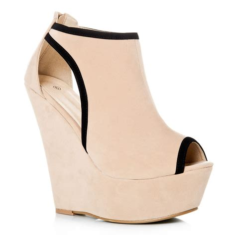 platform sneaker heels platform wedges with platform peep toe and cut outs