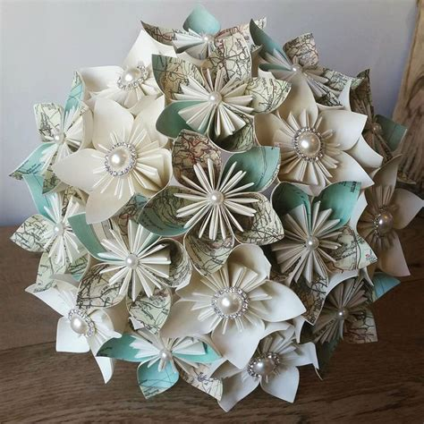 Vintage Origami Paper - 17 best ideas about paper wedding bouquets on