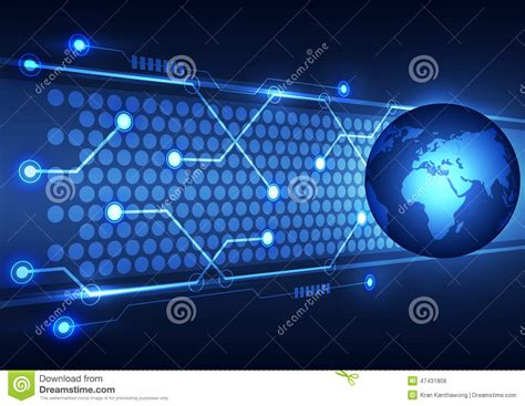 International Mba Technology by Abstract Global Technology Business Background Vector