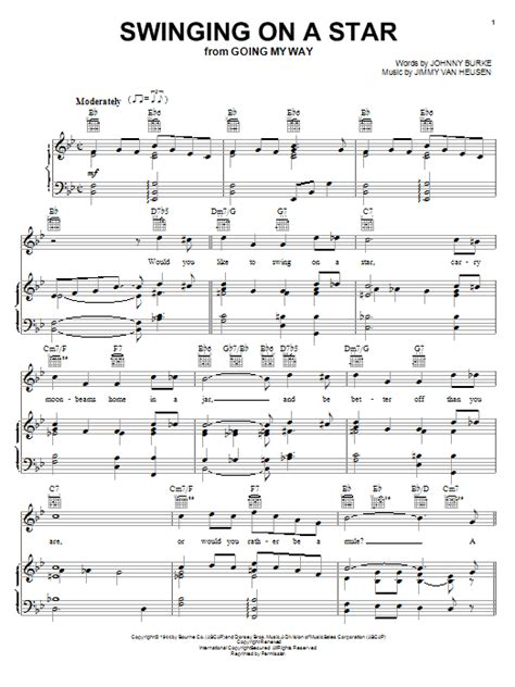 song swing on a star swinging on a star sheet music direct