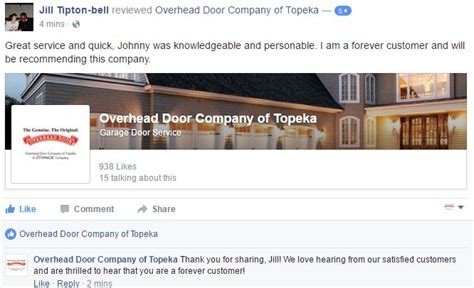 overhead door company of topeka aims to make you a