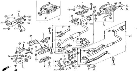 Diagram Of Exhaust System For Honda Civic Honda Store 1995 Civic Exhaust System Parts