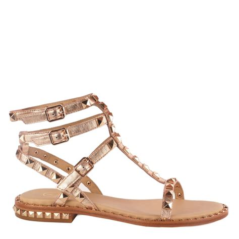 Sandal Studed shop studded sandals at ash footwear gold leather poison sandals