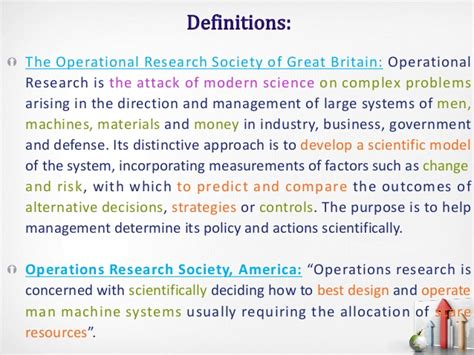 Mba In Operations And Research Management mba qa ii definitions operations research part 2