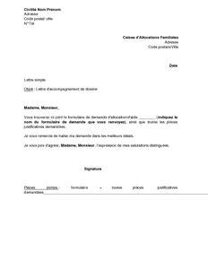 modele lettre gratuite pour envoi document mod 232 le lettre