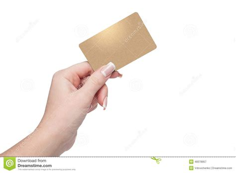 Holding Credit Card Template Holding Credit Card In Stock Photo Image 48378957