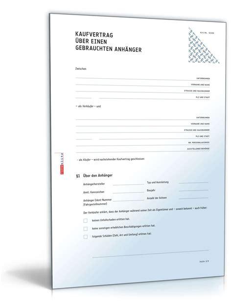 Kaufvertrag Auto Lieferverzug by Kaufvertrag Anh 228 Nger Rechtssicheres Muster Zum Download