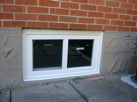 how to put in basement windows vinyl windows vinyl basement windows